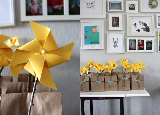 Gift Bag Pinwheels