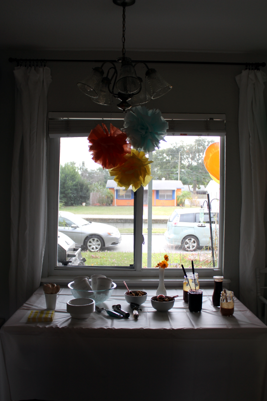 Birthday Party Table Window