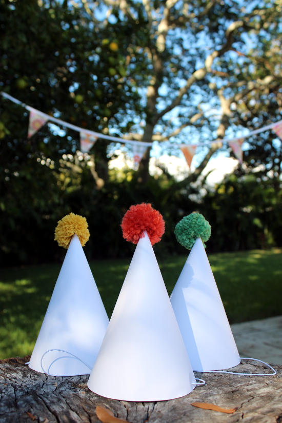 DIY Pom Pom Party Hat