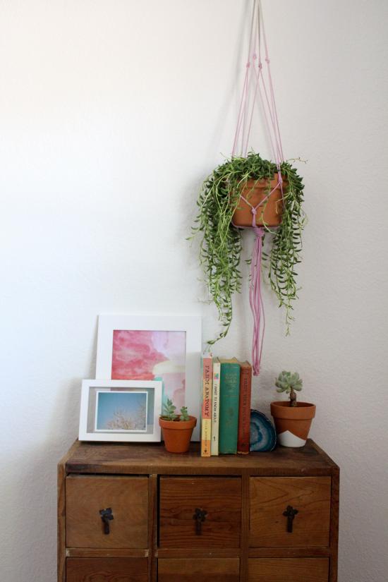 ombre plant hanger