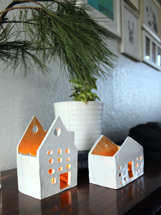 Clay Houses Candles