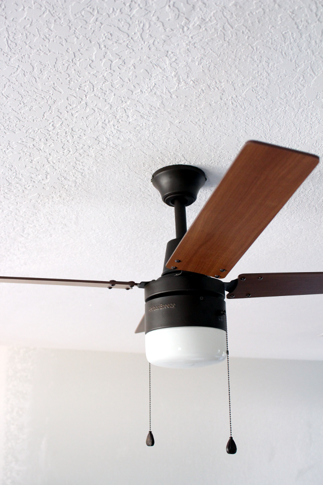 stylish minimal ceiling fan