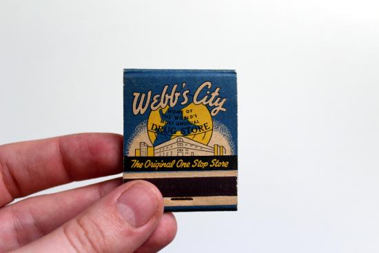 Webb's City Matchbook Front