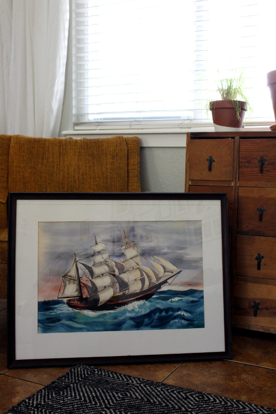 watercolor sail ship