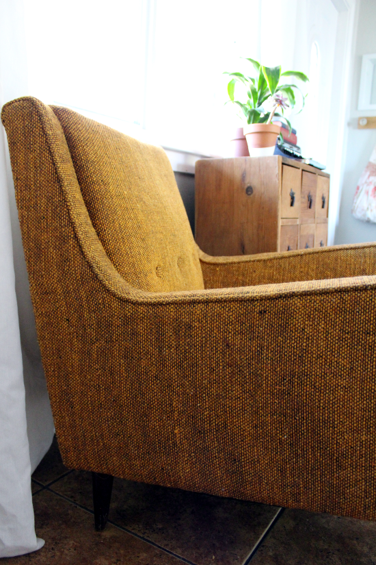 vintage tweed chair