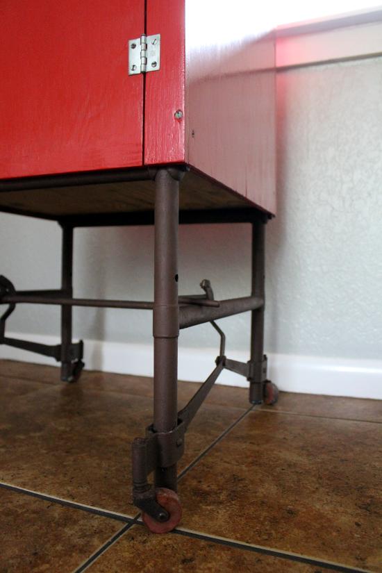 Red Cabinet Under
