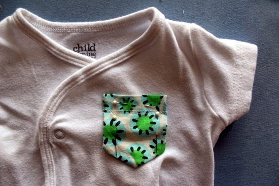 Pin Pocket to Onesie