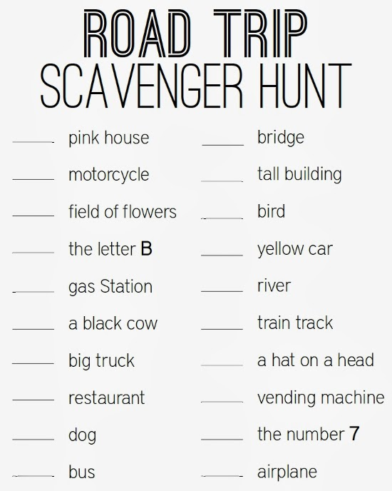 photograph relating to Road Trip Scavenger Hunt Printable titled Getting a Highway Vacation with Youngsters (Totally free Printable!) Turning