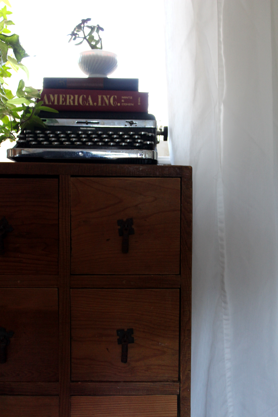 Small Chest and Typewriter