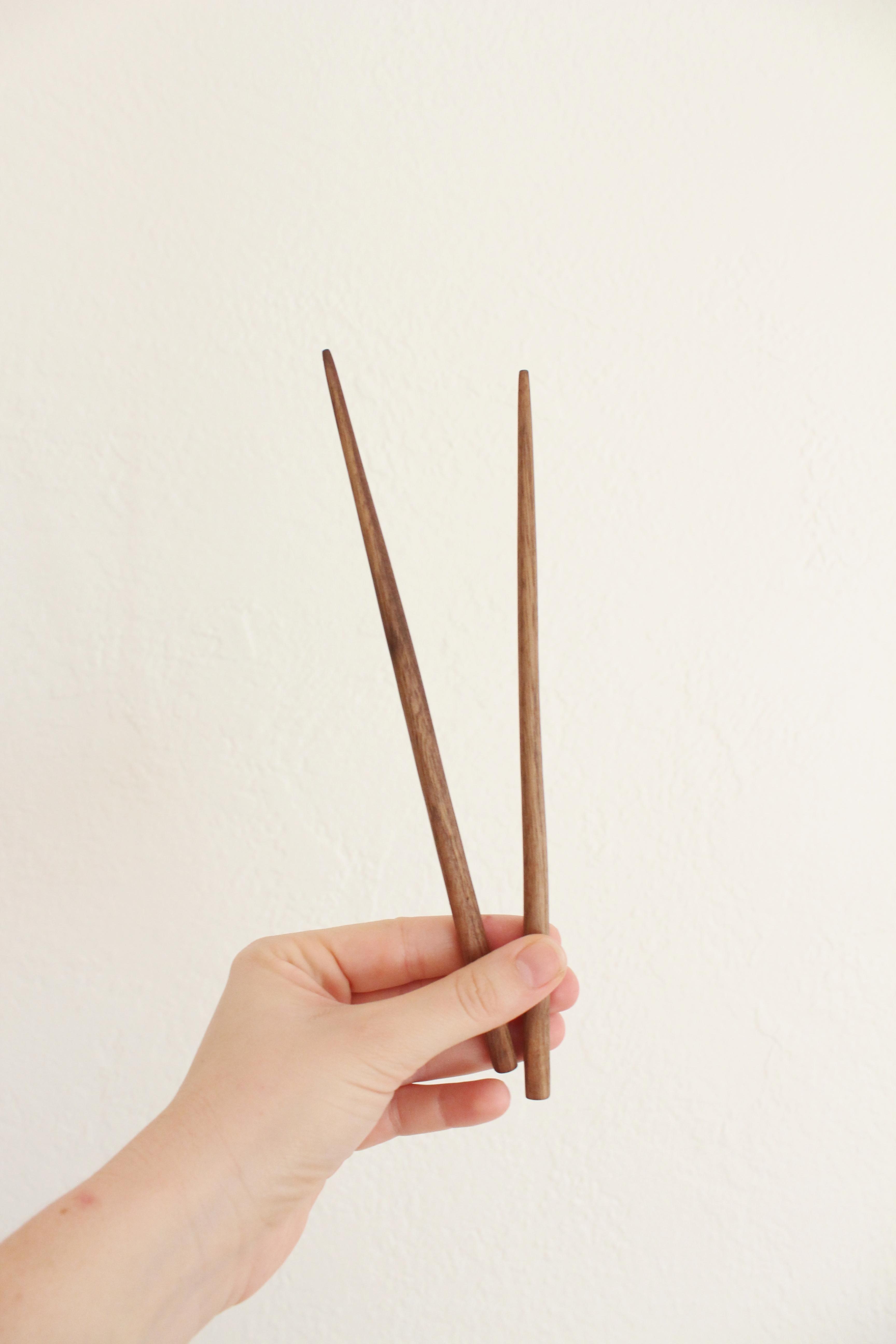 Walnut wood carved chopsticks
