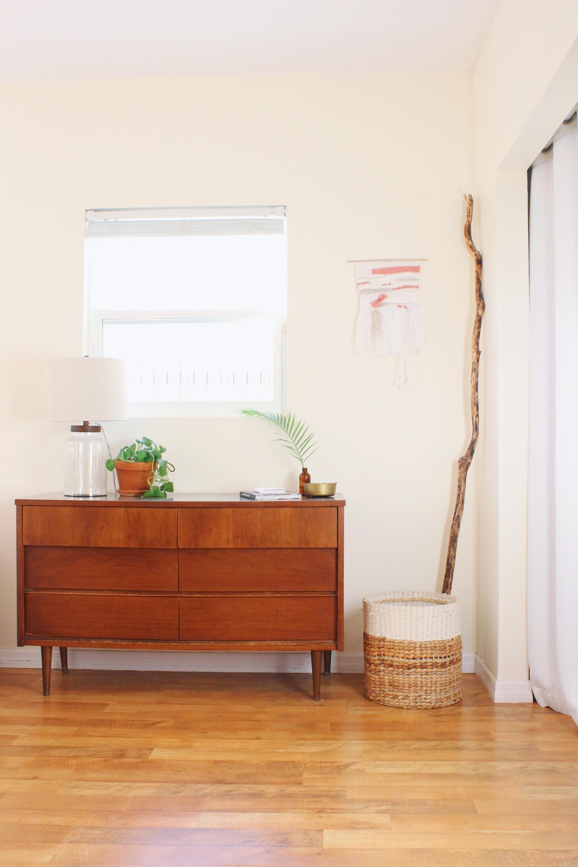 bedroom dresser styling