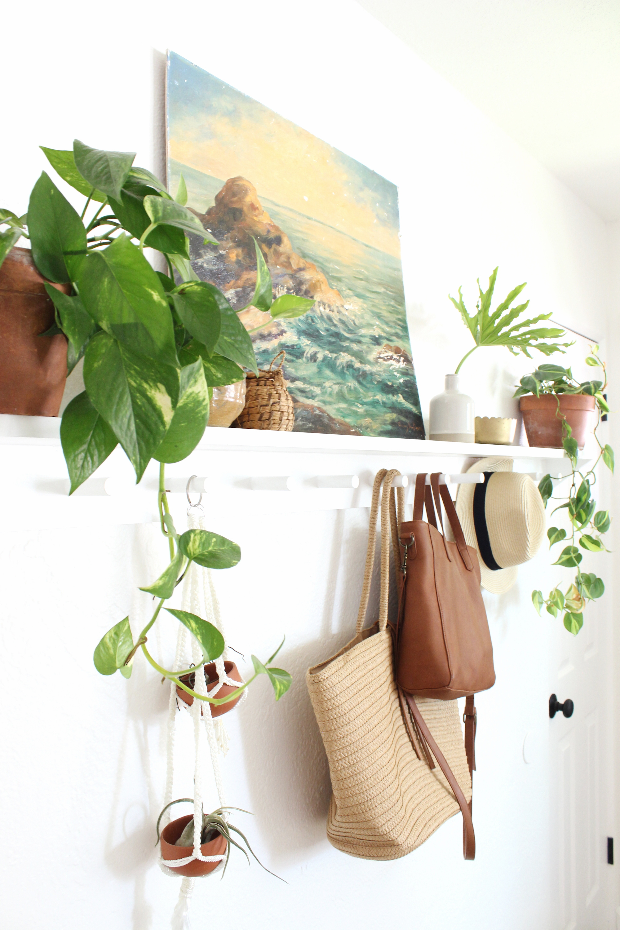easy diy peg rail shelf coat rack