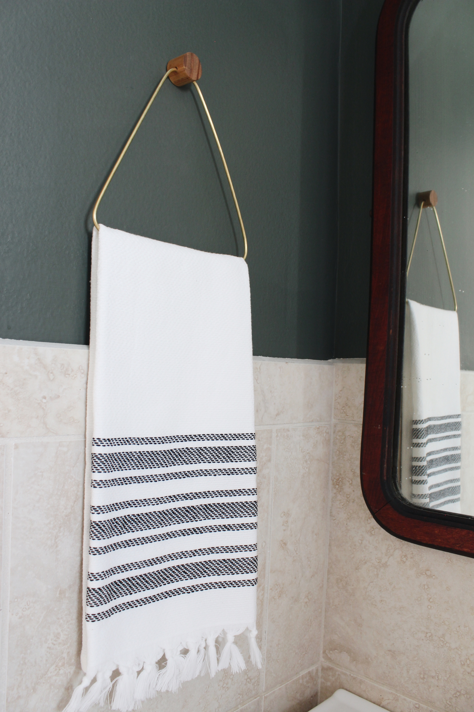 diy brass towel holder