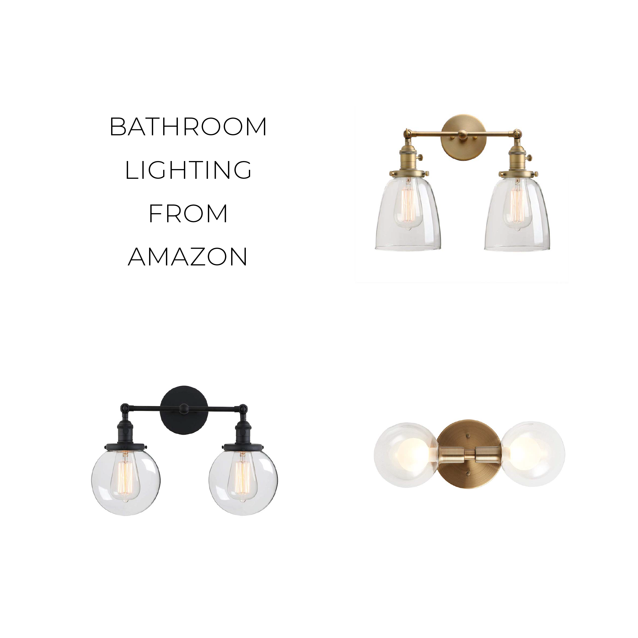 Bathroom Lights from Amazon